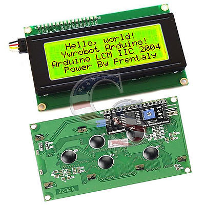 Yellow Serial Iici2ctwi 2004 204 20x4 Character Lcd Module Display For Arduino