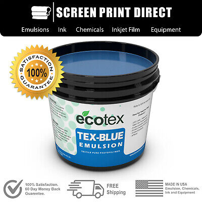 Ecotex Tex-blue- Textile Pure Photopolymer Screen Printing Emulsion- 1 Pt.-16oz