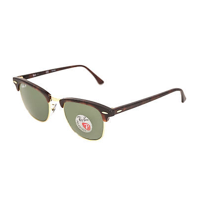 Ray Ban Tortoise Frame - RAY-BAN CLUBMASTER SUNGLASSES Tortoise Frame With POLARIZED Green Lens 51MM