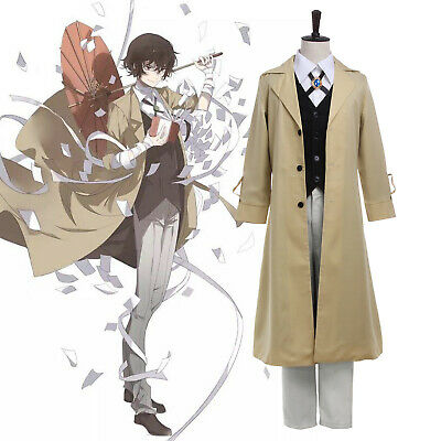 Bungo Stray Dogs Dazai Osamu Cosplay Costume Mens Unisex Suit Anime Outfit Coat - Anime Cosplays