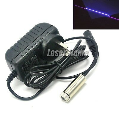 Focusable 405nm 20mw Violetblue Laser Line Diode Module5v Adapter Power Supply