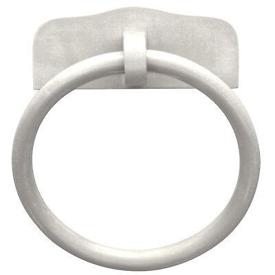 Porta salviette asciugamano ad anello di colore bianco anticato a muro classico
