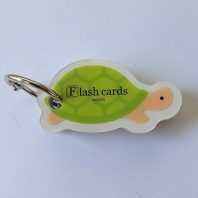 Midori Turtle Mini Flash Cards Note Pad Made In Japan For Japan Market-kawaii
