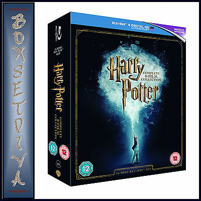HARRY POTTER COMPLETE FILMS 1 2 3 4 5 6 7 8 **BRAND NEW BLU RAY