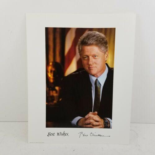 President Bill Clinton 8 x 10 Facsimile Photo White House in Office