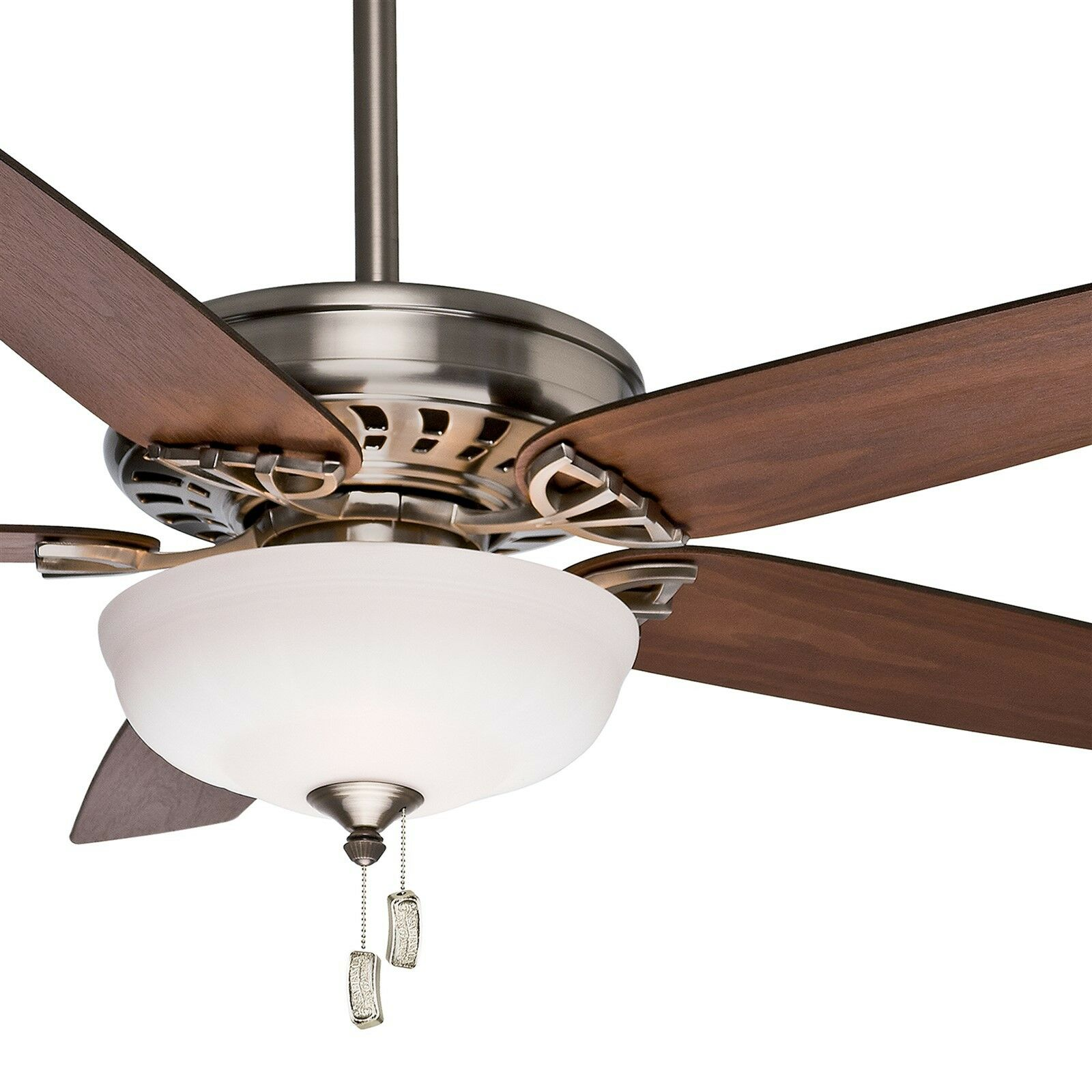 "54"" Casablanca Traditional Ceiling Fan, Brushed Nickel"