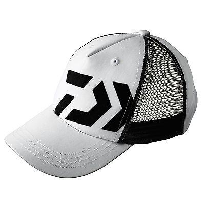 Daiwa D-Vec Schirmmütze Kappe Cap Basecap Angelcap UNI weiß/schwarz