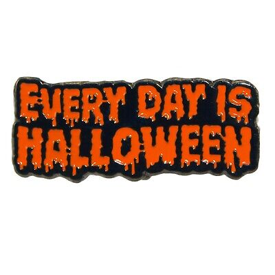 Halloween Is Everyday Enamel Pin Gothic Punk Brooch 60s Metal Badge Lapel
