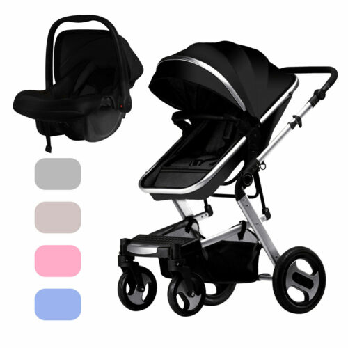 High Landscape 3 In 1 Travel Baby Stroller Infant Carriage Trolley With Car Seat - $214.99