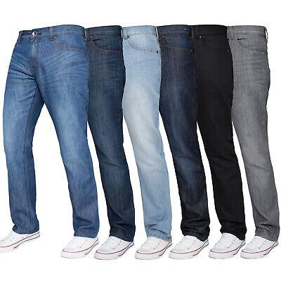 Kruze Mens Jeans Regular Fit Straight Leg Denim Pants All Waist Big Tall Sizes