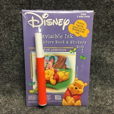 Disney Winnie The Pooh Book 1 Invisible Ink & Stickers Activity Picture Book NEW (Invisible Ink Book)