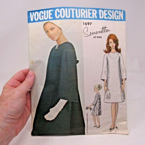 Vintage Pattern Vogue Couturier Design # 1697 Simonetta of Italy SZ 14 Bust 34