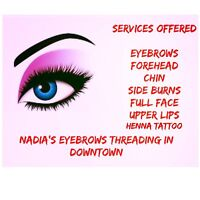 Eyebrows Threading,waxing,henna tattoo In Downtown(South Street)