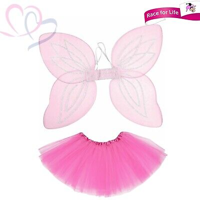 Race For Life Pink Fancy Dress Pixie Costume Fantasy Disney Fun Run Tinkerbell