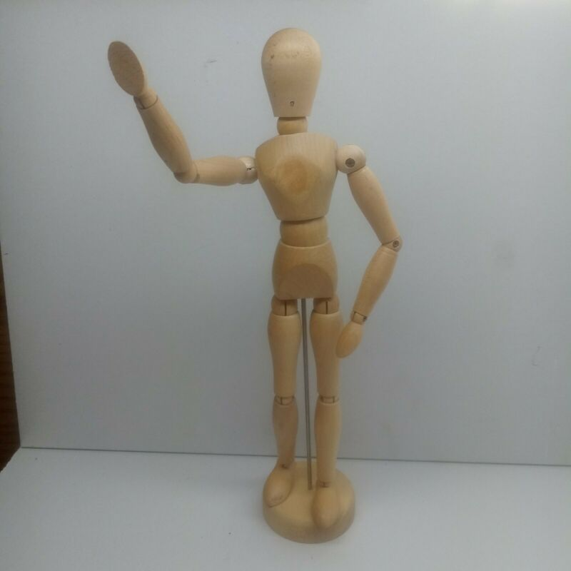 """Art mannequin posable 12"""" drawing anatomy refrerence craft"""