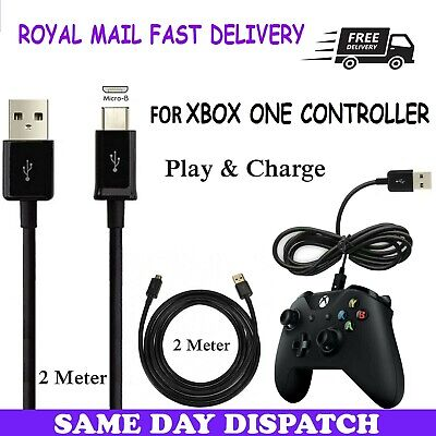 XBOX ONE Charging Cable Black GamePad Controller Charger Lead Micro USB xbox...