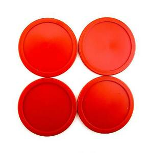 4pcs-63mm-2-5-034-13g-Red-Air-Hockey-Table-Lot-of-4-Replacement-Pucks-USA-Seller