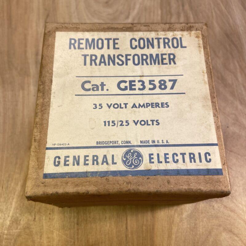 Vintage NOS General Electric Remote Controll Transformer GE3587 35 Volt 115/25