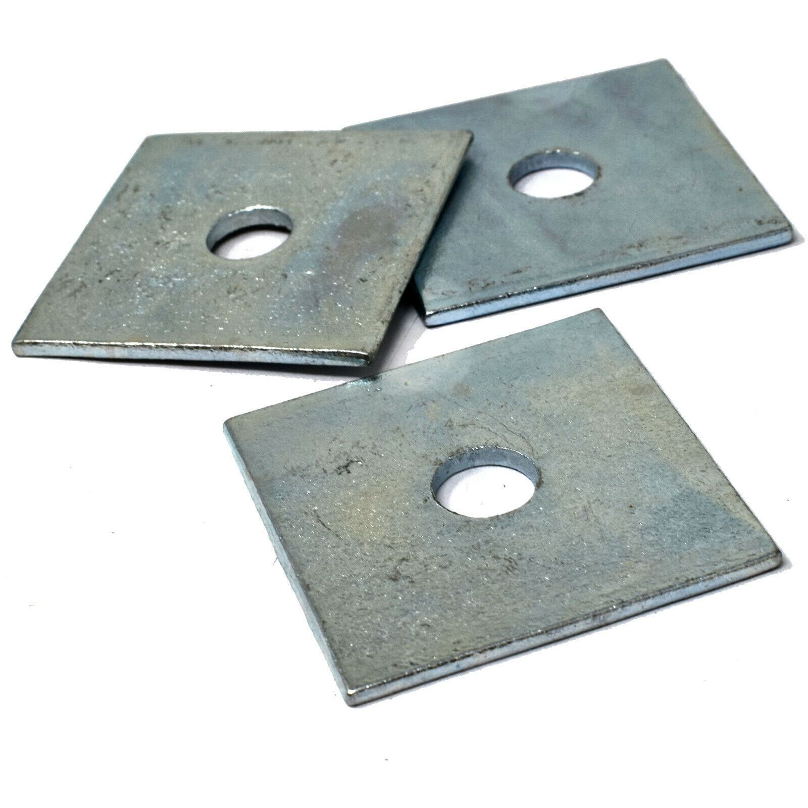 PACK OF 30 50mm x 50mm x 10mm BRIGHT ZINC PLATED SQUARE PLATE WASHERS BZP *