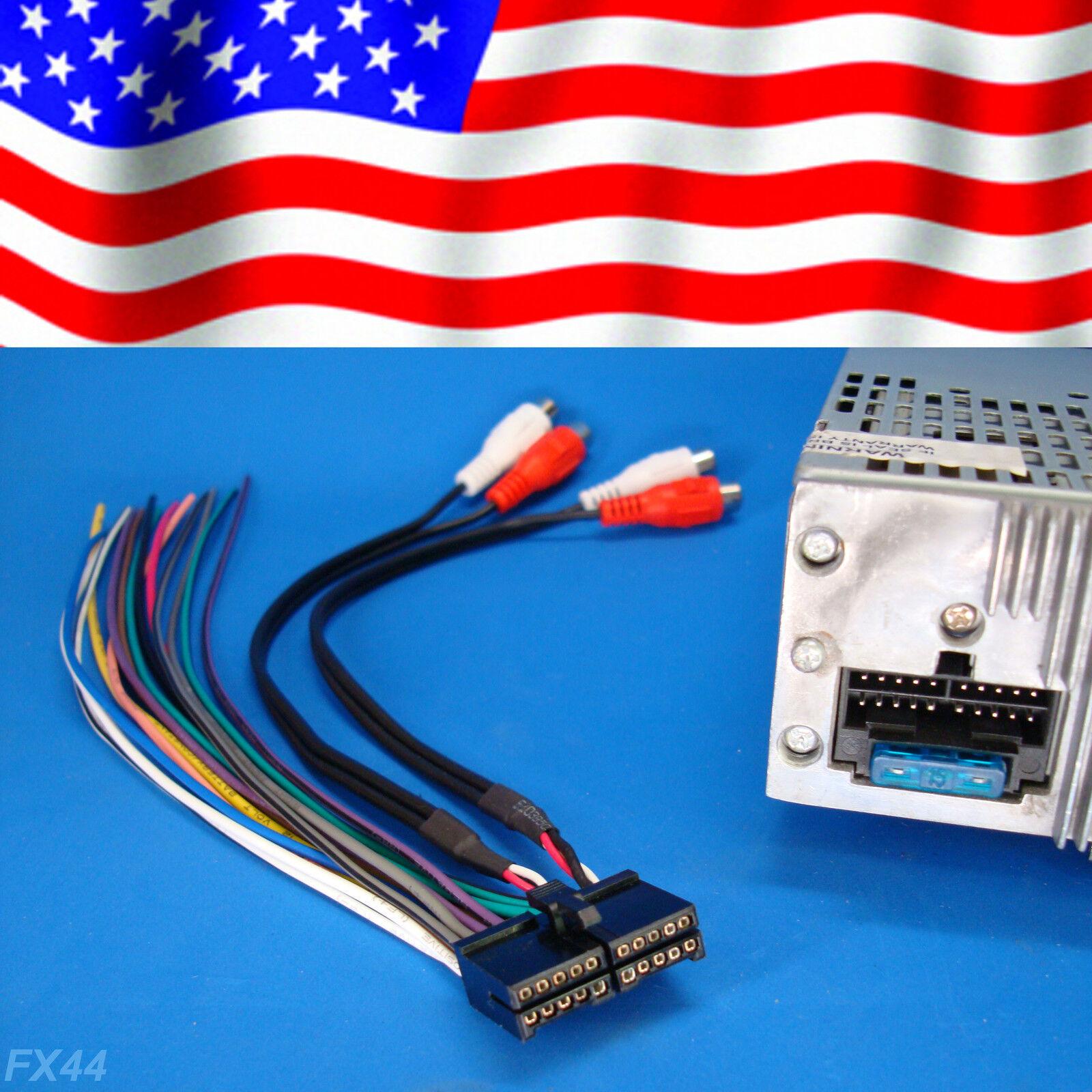 Jensen 20 Pin Radio Wire Harness Stereo Wiring Aftermarket