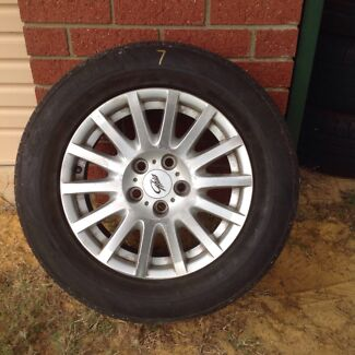 Ford BA BF Ghia 225/60/16 rims and tyres  Kelmscott Armadale Area Preview