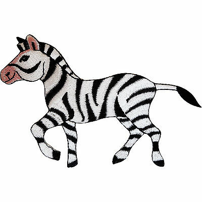 Embroidered Zebra Iron On Badge Sew On Patch Animal Clothes Embroidery Applique