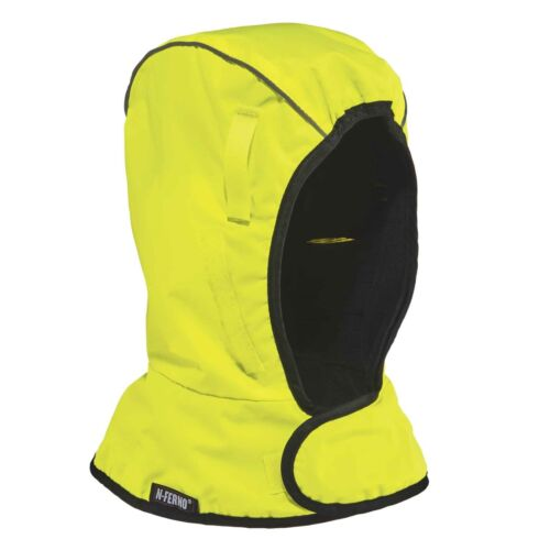 Winter Hard Hat Liner Shoulder Length Ergodyne N-Ferno 6842 LIME Cold Weather