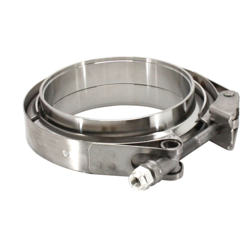 """HFS(R) Stainless Steel 304 Quick Release V-Band Turbo Downpipe Exhaust Clamp 4"""""""
