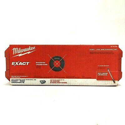 Milwaukee Exact 1 38 Inch Sink Ratchet Knockout Set 49-16-2702