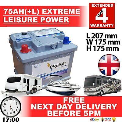 75 ah (+L) 70 60 amp ah Leisure Battery Low Height maintenance...
