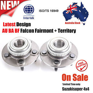 2 x Ford Falcon AU BA BF With ABS Front Wheel Bearing Hub set Pair