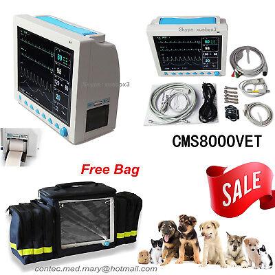 Contec Cms8000 Veterinary Patient Monitorecgnibpspo2prresptempprinterbag