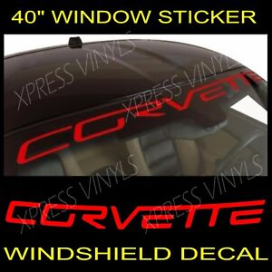 Chevy Corvette Windshield Vinyl Decal Sticker Custom 40