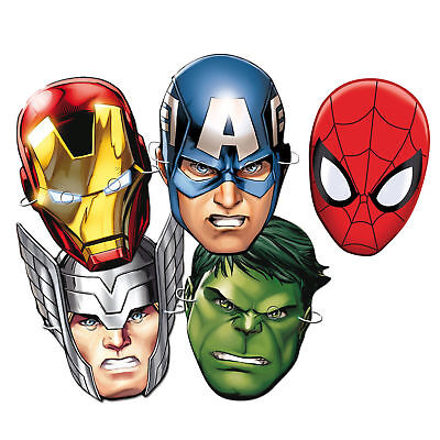 MARVEL Spiderman Iron Man Hulk Thor Avengers MASKS - Super Party Bag Filler](Thor Costumes For Girls)