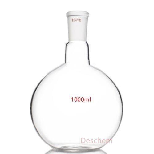 1000ml,1-Neck,24/40,Flat Bottom Glass Flask,Single Neck,1L,lab Boiling Vessel