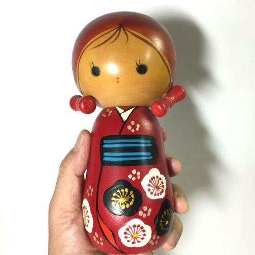 18.2cm Red Kimono Girl KOKESHI JAPAN No.AK727
