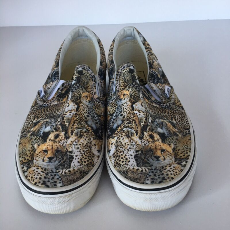 Vans Off the Wall. Cheetah Pattern. Mens 8 & Womens 9.5.