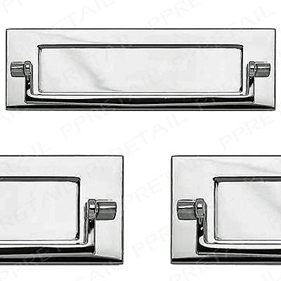 Polished Chrome Letter Box+Postal Knocker ~HIGH QUALITY~ Door Letterplate Plate