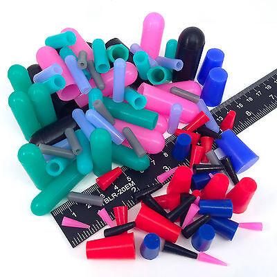 98pc Masking Kit Assortment - High Temp Silicone Powder Coating Plugs Caps Paint