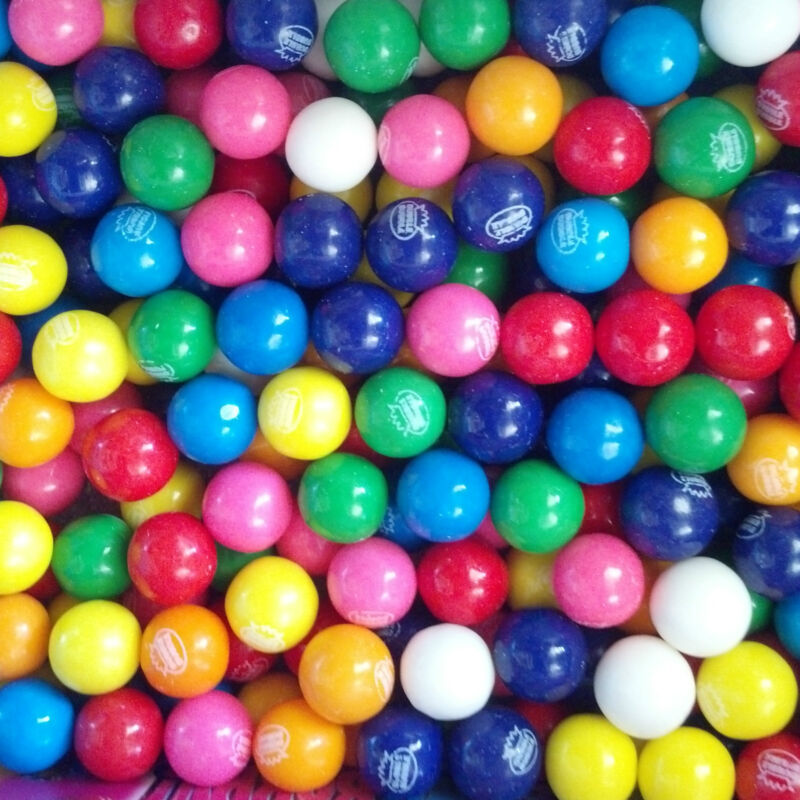"""Dubble Bubble Assorted 1"""" / 24mm  Gumballs 3 Lbs  Free Shipping Always Fresh *"""