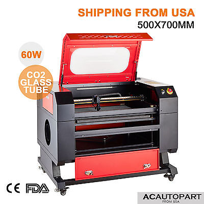 60w 110v Co2 Engraver Cutter Laser Engraving Machine W Usb Interface New