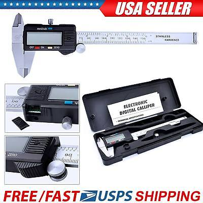 6 Digital Vernier Caliper Lcd Electronic 150mm Gauge Stainless Steel Ruler