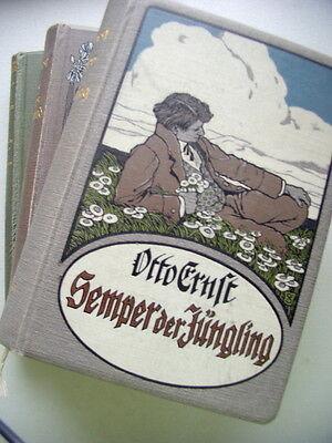 3 Bücher Semper der Jüngling + Asmus Sempers Jugendland + Gervhigen Leben