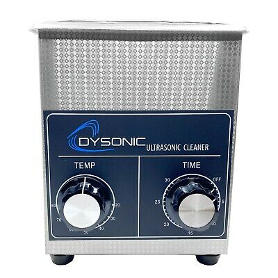 Dysonic 2qt Ultrasonic Cleaner Stainless Steel Heated Jewelry Cleaning W Timer