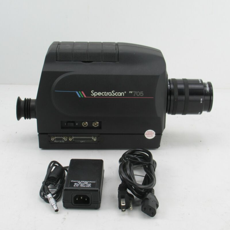 PHOTO RESEARCH SPECTRASCAN 705 SPECTRORADIOMETER WITH 55MM LENS AND POWER SUPPLY