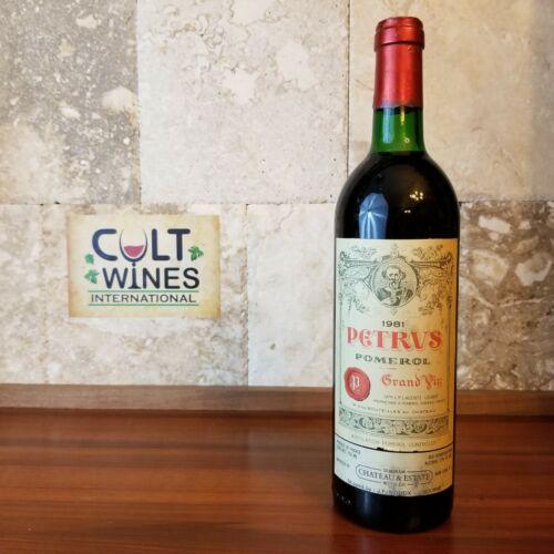 1981 Chateau Petrus Pomerol Bordeaux wine