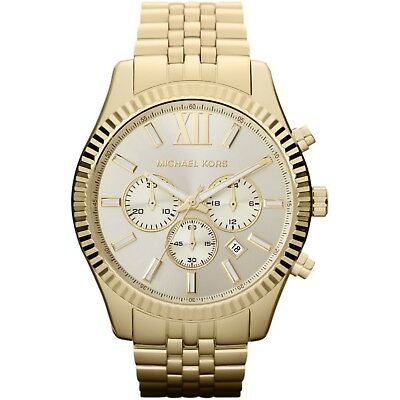 Michael Kors MK8281 Lexington Gold Stainless Steel Chronograph Men's Watch 8807