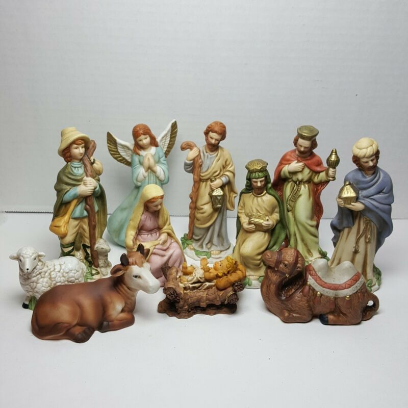 Herald Vintage Nativity Ceramic Creche