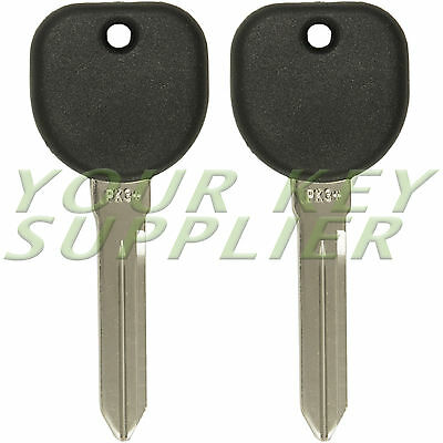 2 New Uncut Transponder Chip Ignition Keys For Cadillac Cts B112 Pt