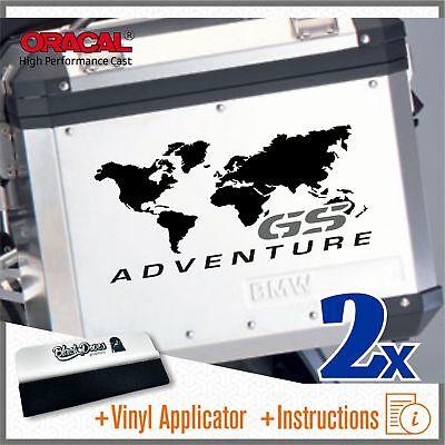 2x GS Adventure Black/Grey BMW F650 R1150 R1200 GS Stickers Pegatina Stickers